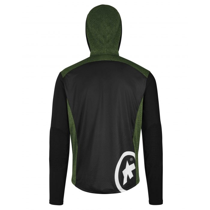 Assos Trail Jacket Spring Fall Green Back scaled