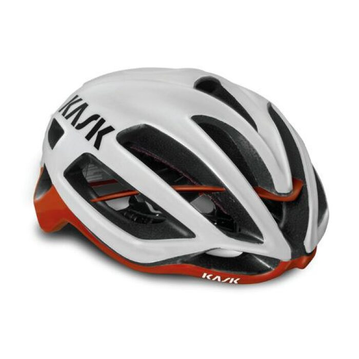 Kask Protone weiss rot