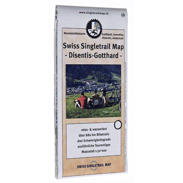 singletrail map 28 disentis gotthard